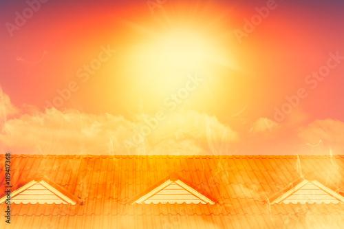 Fotografia, Obraz  very hot weather over heat summer sunny day.