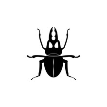 Stag Beetle Icon. Elements Of ...