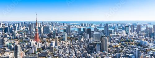Deurstickers Tokio 東京 都市風景 ワイド