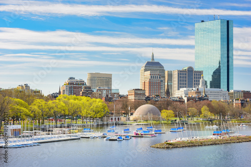 Fotografía Cityscape of Boston, Back Bay and Charles River, located in Boston, Massachusetts, USA