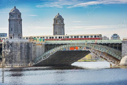 Fotografie, Obraz  Cityscape of Boston, Charles River and Longfellow Bridge, located in Boston, Massachusetts, USA