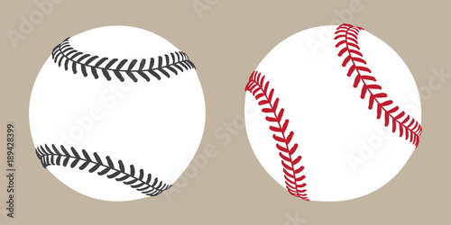baseball vector ball icon soft ball tennis illustration character Wallpaper Mural