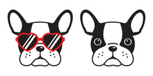 Dog Vector French Bulldog Icon...