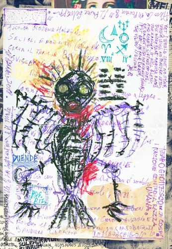 Poster Imagination Wuthering Heights. Schizzi e bozzetti macabri,esoterici e bizzarri