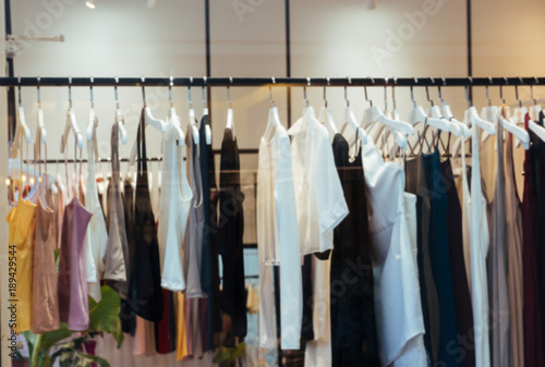 df5d88750a8 Blur background of fashion clothes in a boutique store. - Buy this ...