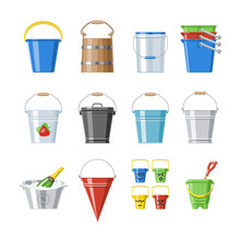 Bucket Vector Bucketful Or Woo...