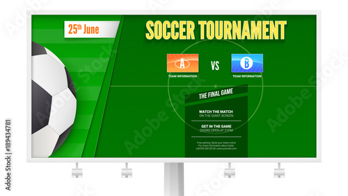 graphic regarding Printable Football Field Template identify Football or eu soccer event upon billboard