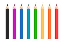 Rainbow Color Pencils Vector C...
