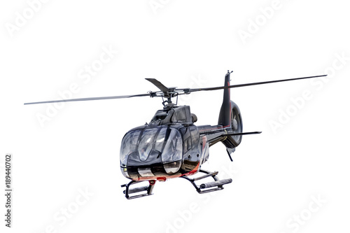 Keuken foto achterwand Helicopter Front view helicopter isolated