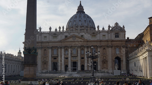 In de dag Monument The view of St Peter Basilica , Rome, Vatican, Italy.