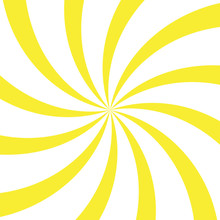 Abstract Light Yellow And Red Rays Background. Vector.