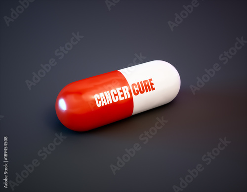 Cancer cure drug concept Canvas Print
