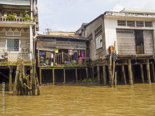 Buildings of Mekong river