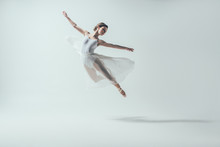 Elegant Ballet Dancer In White...
