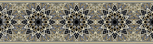 Obraz Seamless repeating pattern for border design - fototapety do salonu