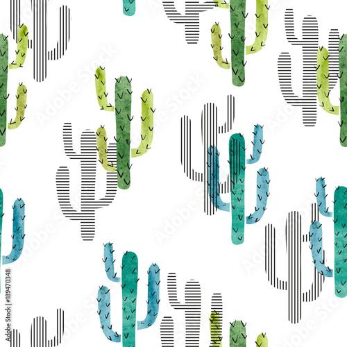 bezszwowy-akwarela-kaktusa-wzor-wektorowy-tlo-z-zielonym-i-blekitnym-kaktusem-odizolowywajacym-na-bielu