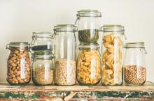 Various Uncooked Cereals, Grai...