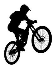 Jump Athlete Rider Mtb Downhil...