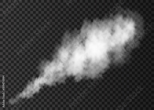 Photo sur Aluminium Fumee White fire smoke puff isolated on transparent background.