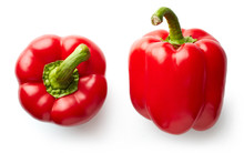Sweet Red Pepper Isolated On W...