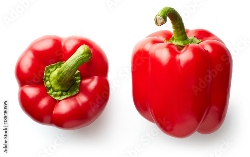 Fototapeta Sweet red pepper isolated on white obraz