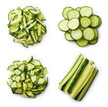Heap Of Fresh Sliced Cucumbers