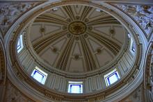 Prunkvolle Kuppel Der Kathedrale Von Valencia Von Innen