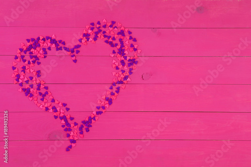 Fotografie, Obraz  Decorative modern pink and purple heart shape