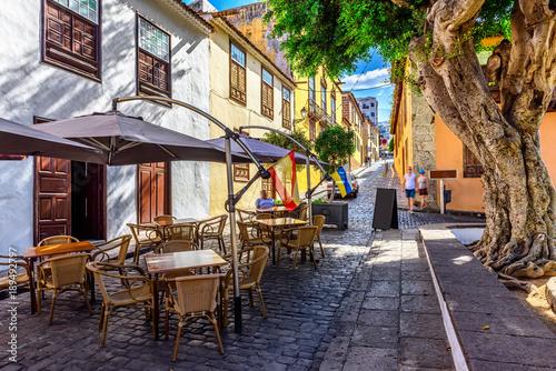 Historic downtown in Icod de los Vinos on Tenerife, Canary Islands, Spain