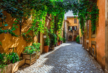 Old Street In Trastevere, Rome...