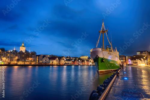 Hafen von Stavanger in Norwegen Tablou Canvas