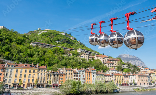 Grenoble-Bastille cable car in France