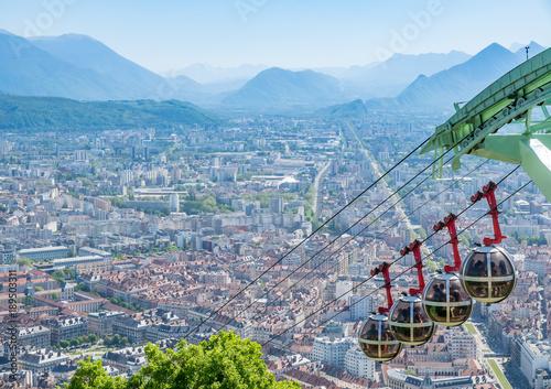 Grenoble-Bastille cable car in France