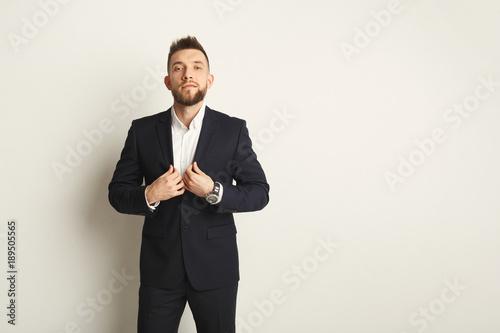 Foto op Plexiglas Artist KB Handsome young caucasian businessman