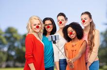 Group Of Women Taking Selfie A...