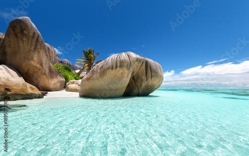 Fotografering Anse Source d'Argent beach, La Digue island, Seyshelles