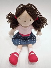 Child's Toy Rag Doll With Pigt...