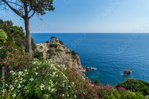 Spoed Foto op Canvas Nieuw Zeeland The rocks on the Ionian sea. Greece.