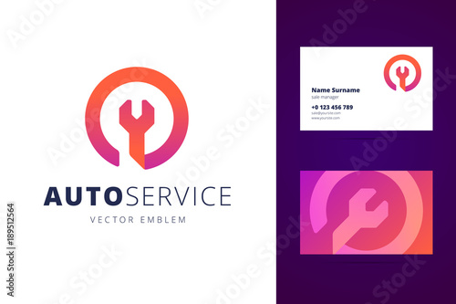 Valokuva Auto, car service logo and business card template