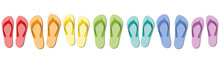 Flip Flops - Colored Summer Sl...