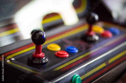 Photo Joystick of a vintage arcade videogame - Coin-Op