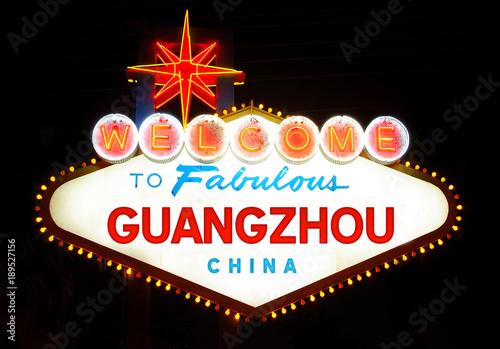 In de dag Las Vegas Welcome to Fabulous Guangzhou (China)