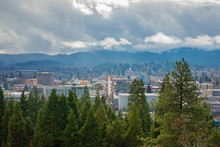 Eugene Oregon City And Clouds