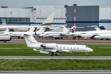 White Private Business Jet Tax...