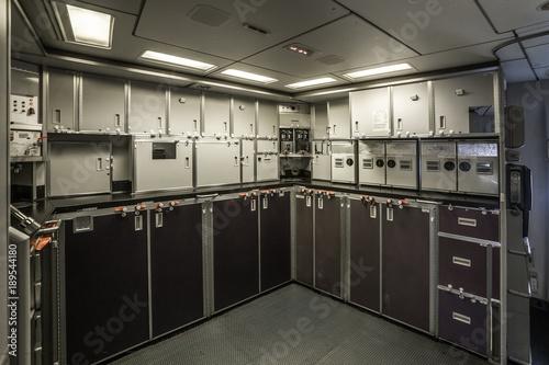 The interior of large aircraft kitchen Slika na platnu