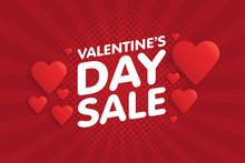 Valentine's Day Sale Banner In...