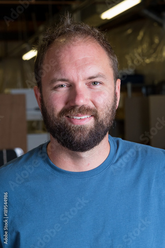 Poster  Bearded Man Headshot Portrait