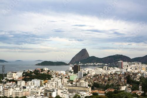 View over cityscape of Rio de Janeiro, Brazil, South America. Poster