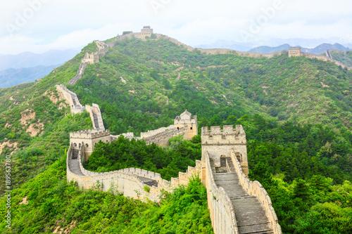 The famous Great Wall of China,jinshanling natural landscape