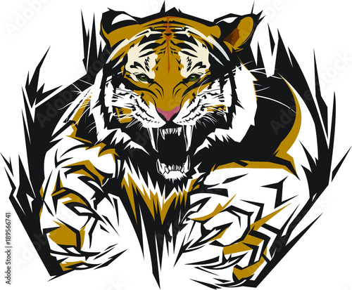 Tiger Vector Logo - Buy this stock vector and explore ...
